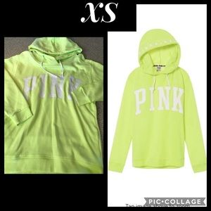PINK Victoria's Secret Tops - VS PINK CAMPUS FUNNEL NECK CROSSOVER HOODED TUNIC